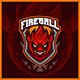 Fireball Monster - Mascot Esport Logo Template