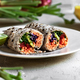 Sweet Purple Tortilla with Mango Carrot Sprout and Hummus Wrapped - PhotoDune Item for Sale