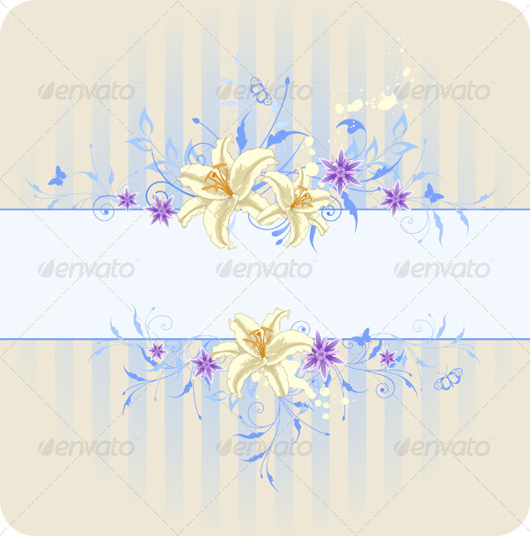 Blue Floral Background - Backgrounds Decorative