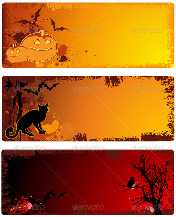 Grunge  Halloween Banners - Halloween Seasons/Holidays
