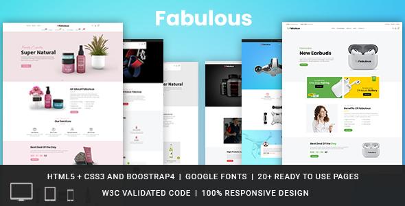 Fabulous Responsive HTML Template