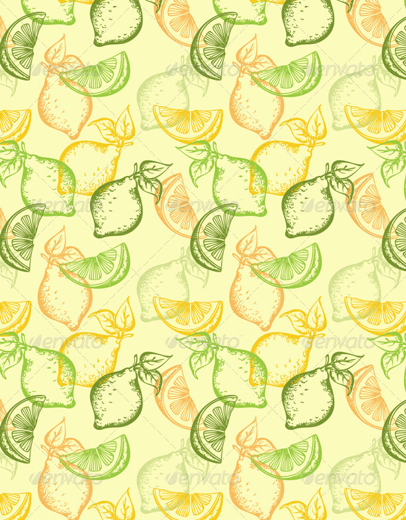 Citrus Seamless Pattern - Patterns Decorative