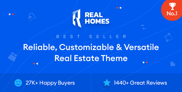 RealHomes - Estate Sale and Rental WordPress Theme Nulled