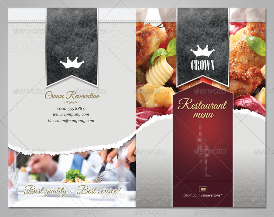 Superb Delicious Restaurant Menu Template   Food Menus Print Templates · Preview  Image Set/01_preview1 ...