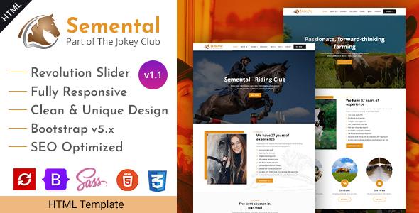 Semental - Stud Farms & Stables HTML Template