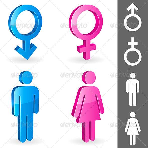Gender Symbols - Conceptual Vectors