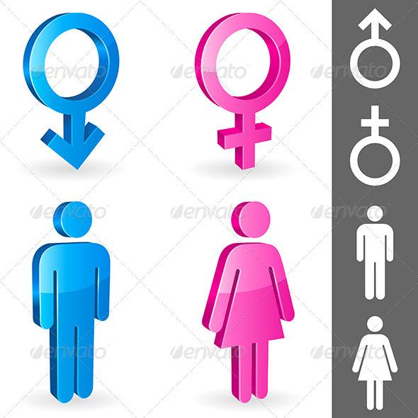 gender symbols by timurock graphicriver