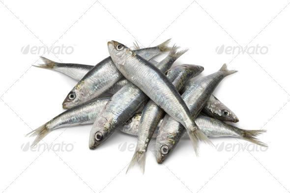 Fresh raw sardines - Stock Photo - Images