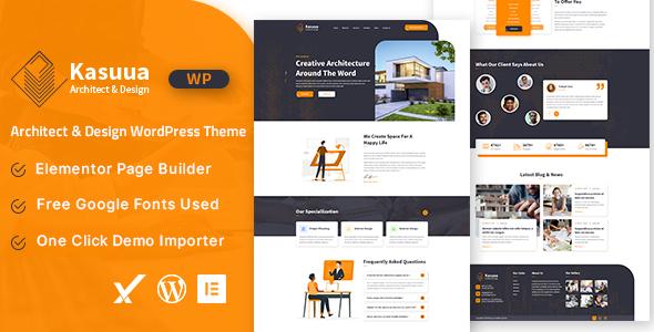 Download Kasuua – Architect & Design WordPress Theme Free Nulled