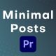 Minimal Instagram Posts for Premiere Pro - VideoHive Item for Sale