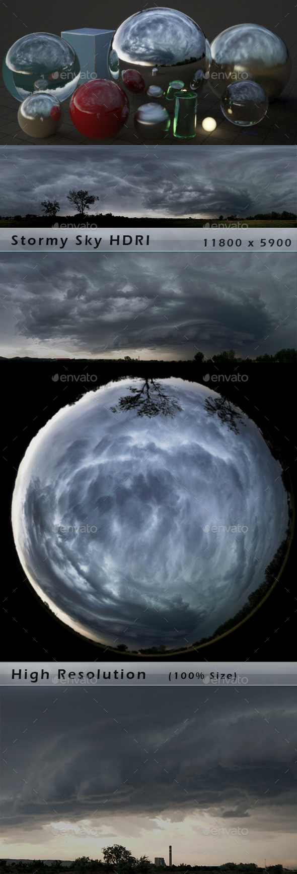 Stormy Sky HDRI