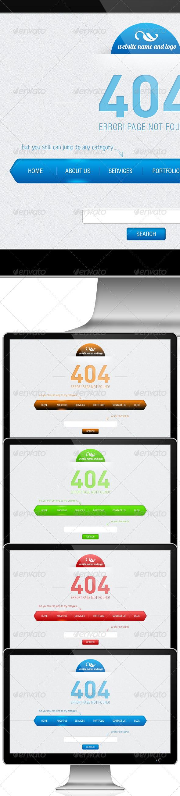 404 - 404 Pages Web Elements