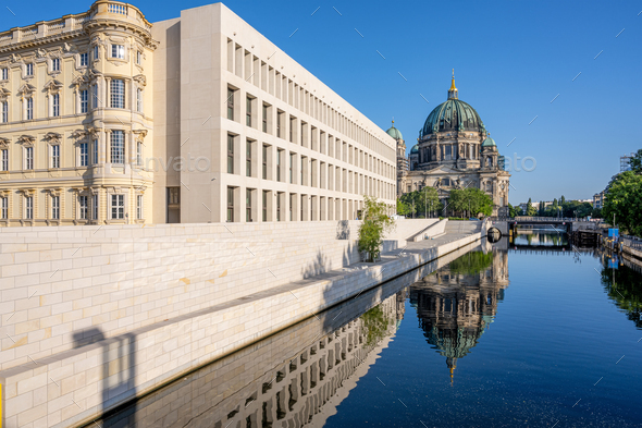 The Berliner Dom with the reconstructed City Palace - Stock Photo - Images
