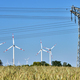 Power lines and wind turbines - PhotoDune Item for Sale