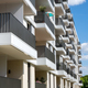 Modern apartment building with many balconies - PhotoDune Item for Sale