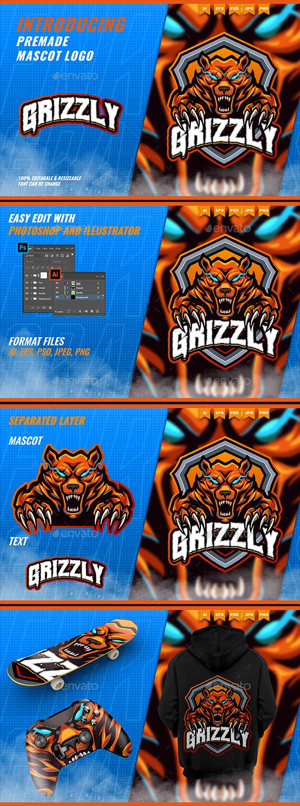 Honey Bears Roar - Mascot Esport Logo Template