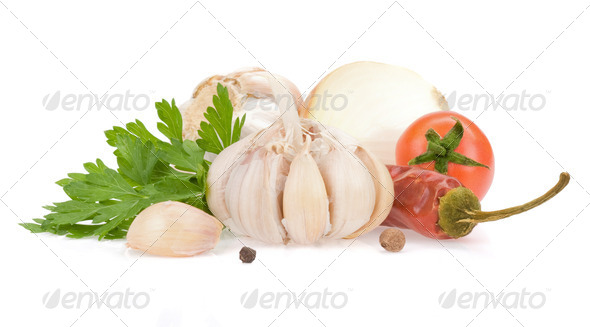 food ingredients and spices - Stock Photo - Images