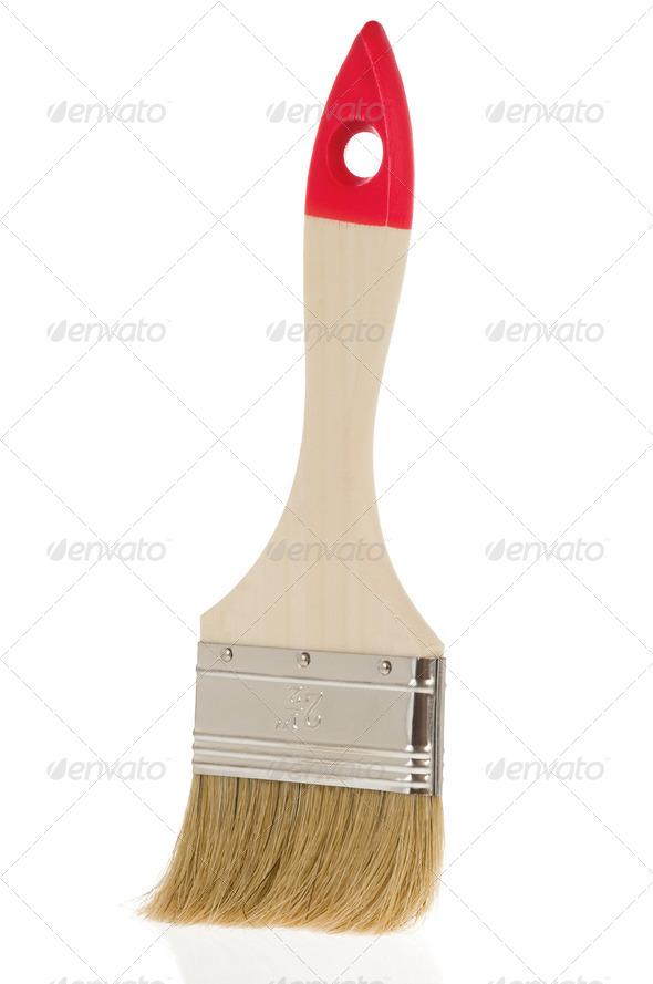 paintbrush isolated on white - Stock Photo - Images