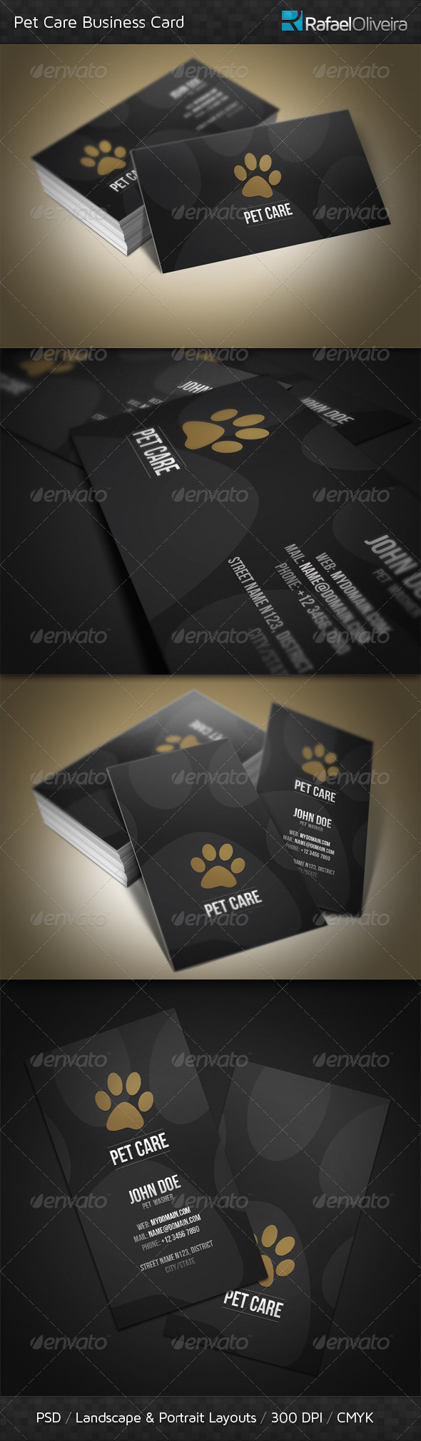 Pet Care Business Card by RafaelOliveira | GraphicRiver