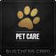 Pet Care Business Card - GraphicRiver Item for Sale