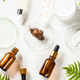 Snail mucin products at white background. Natural cosmetic - PhotoDune Item for Sale