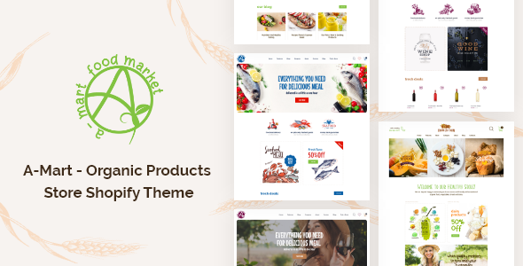 A-Mart – Organic Products Store Shopify Theme