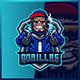 Gorilla Apes Shooter - Mascot Esport Logo Template