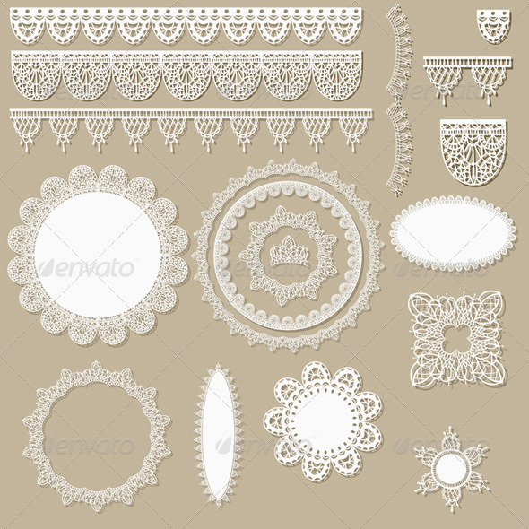 Vector Lacy Scrapbook Design Elements - Miscellaneous Vectors