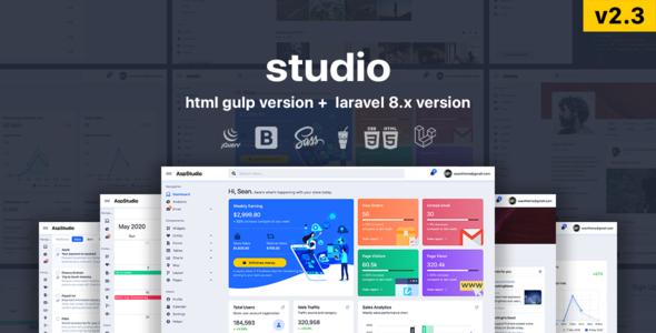 Studio - HTML & Laravel Bootstrap 5 Admin Template