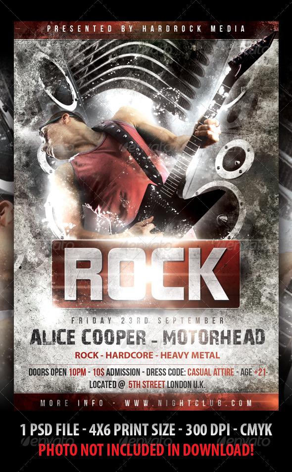 rock concert flyer by fadeink