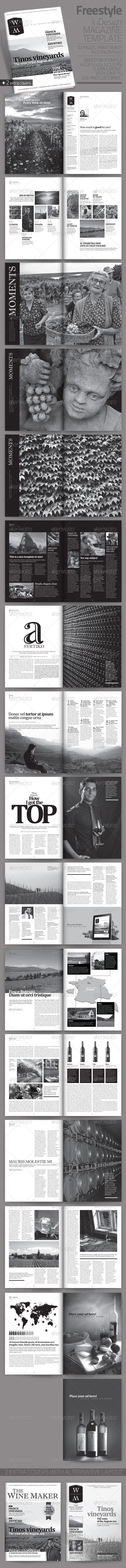 Freestyle | InDesign Magazine Template - Magazines Print Templates