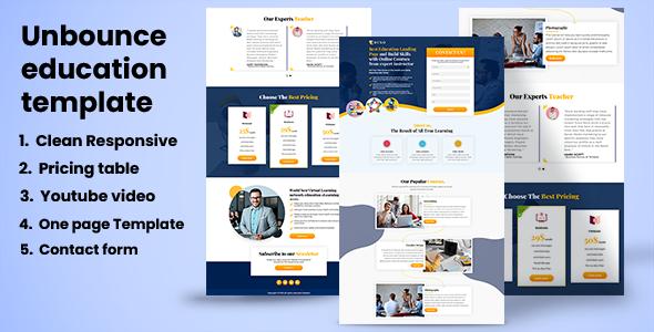 EDUSO - Education Landing page