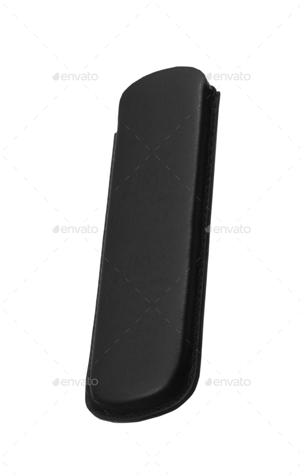 Cover case for mobile phone isolated - Stock Photo - Images