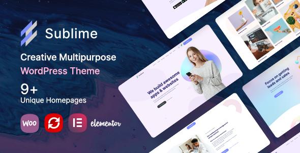 Sublime   Creative Multipurpose WordPress Theme