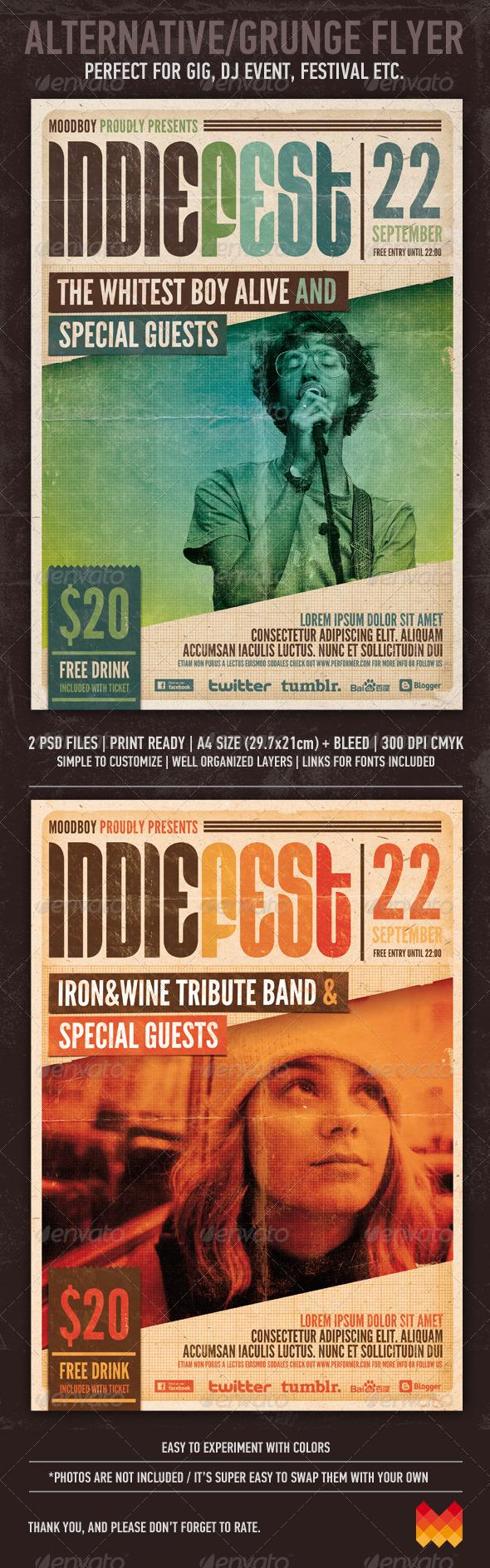 Indie Fest Flyer/Poster - Concerts Events