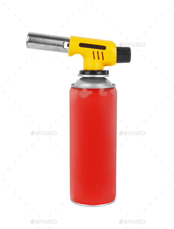 Gas can with manual torch burner - Stock Photo - Images