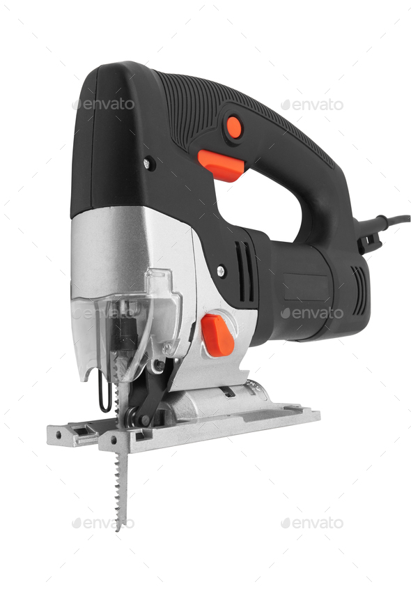 Electric jig saw machine - Stock Photo - Images