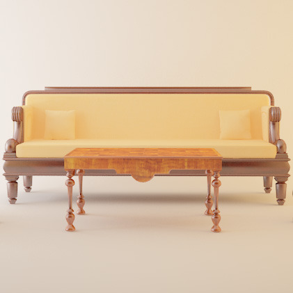 classical furniture set - 3DOcean Item for Sale