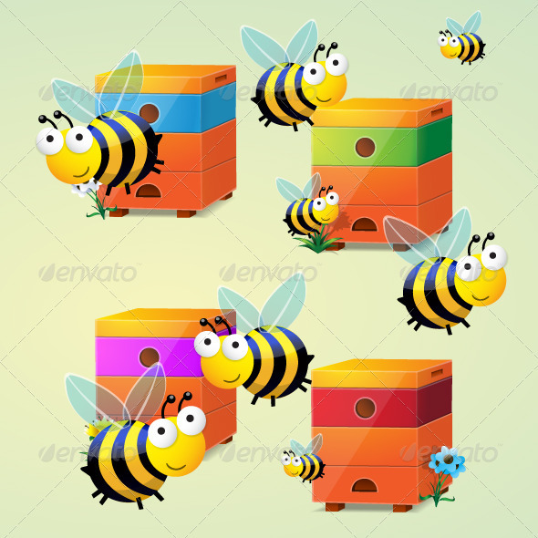Bees Vector - Animals Characters