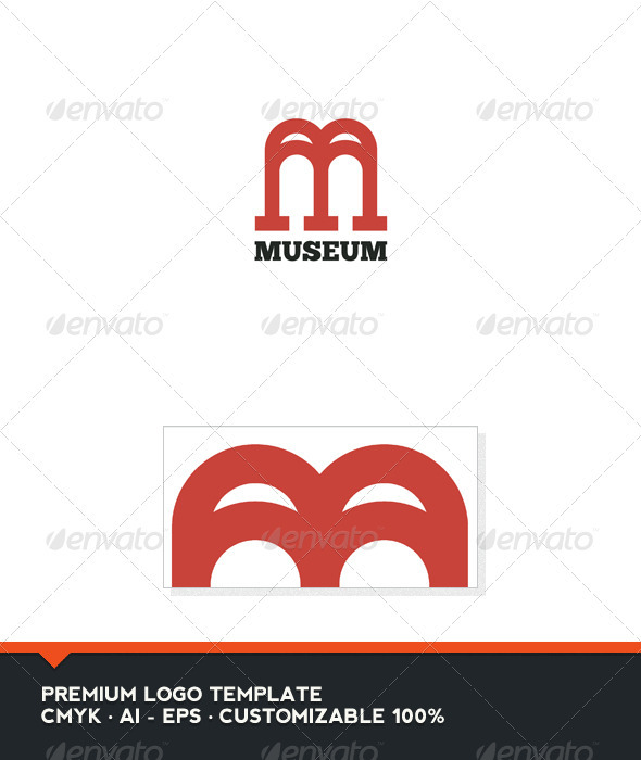 Museum - Letter M and W Logo Template - Letters Logo Templates