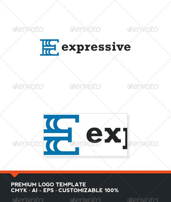 Expressive - Letter E Logo Template - Letters Logo Templates