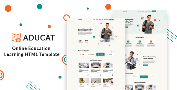 Aducat – Online Education Learning HTML Template