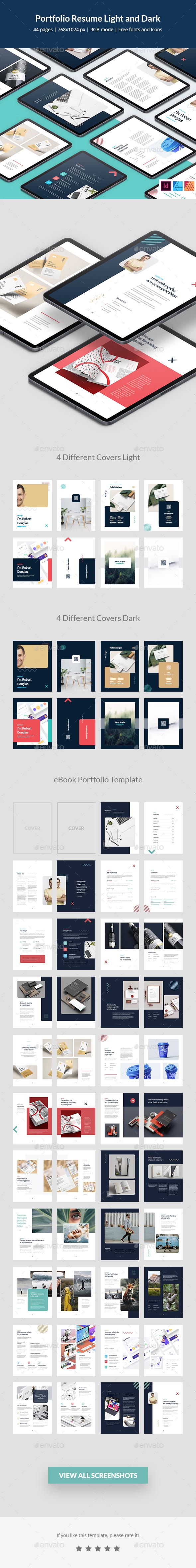 Portfolio Resume Light and Dark eBook