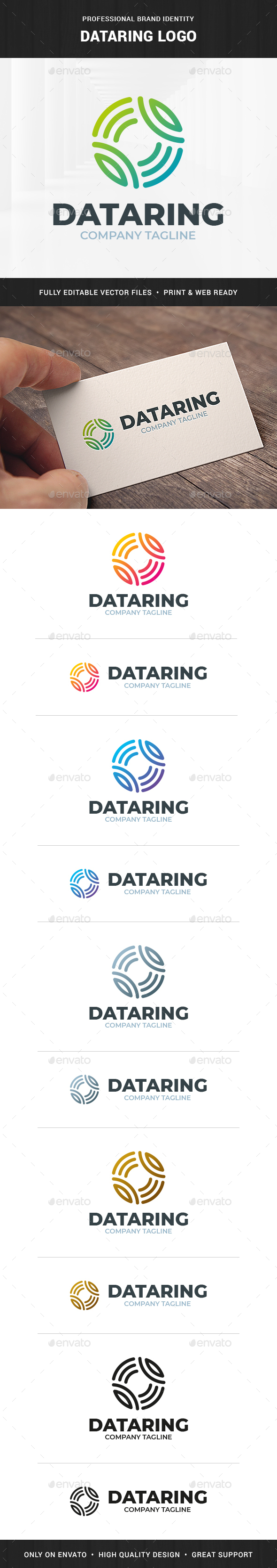 Dataring Logo Template