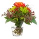 Isolated flower arrangement in a glass vase - PhotoDune Item for Sale
