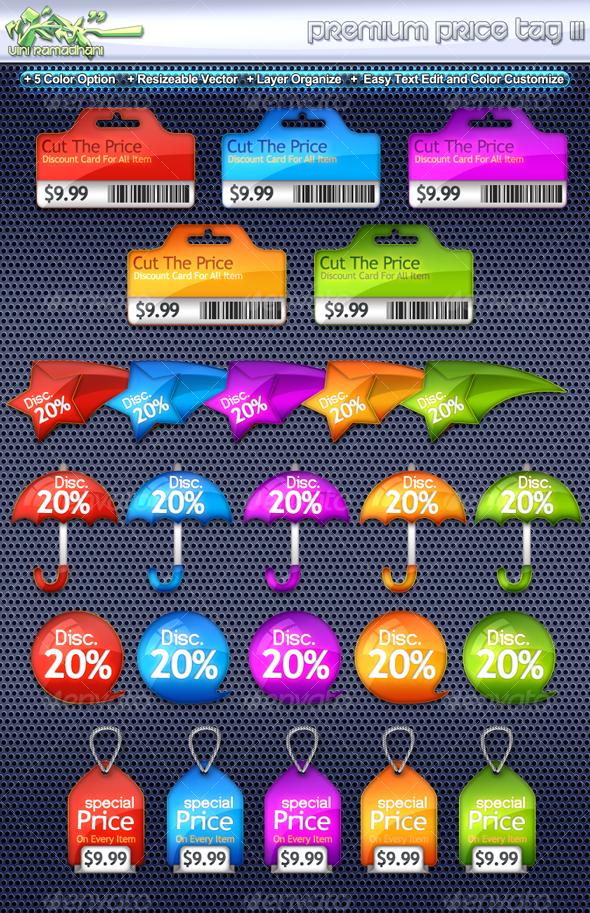 Premium Price Tag 3 - Miscellaneous Web Elements