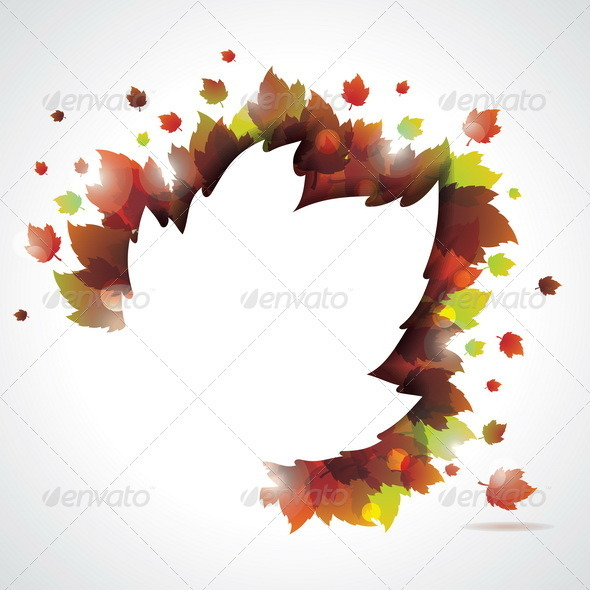 Vector autumn leaves background. - Nature Conceptual