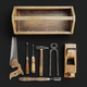 Vintage Wooden Carpenter Toolbox With Tools. 3D Render Of Old Tools Set - PhotoDune Item for Sale