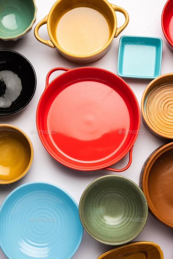 Empty ceramic bowls - Stock Photo - Images