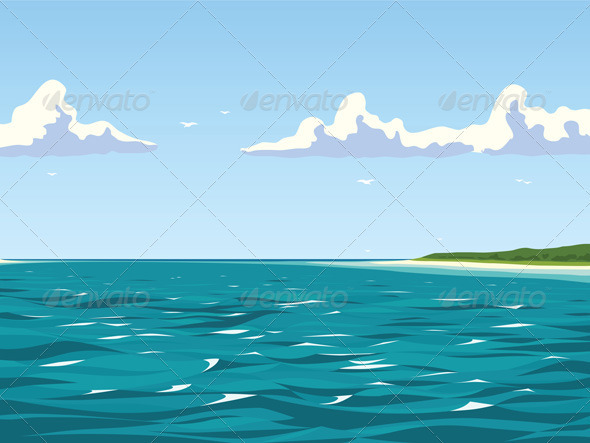 Calm view of the seaside - Travel Conceptual